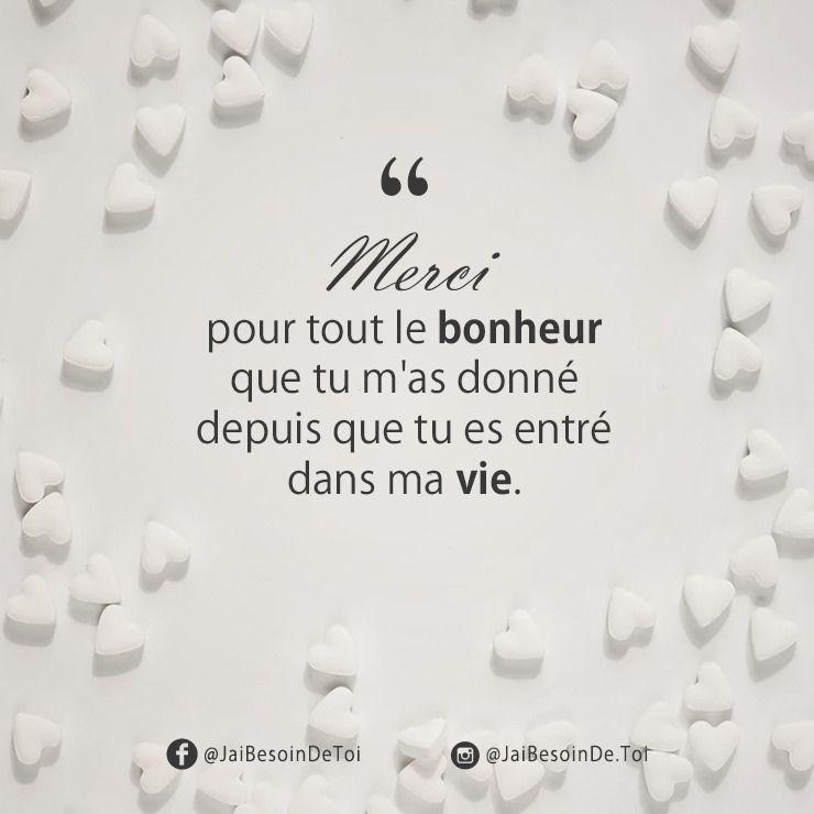 Phrase D Amour Merci Pour Tout Le Bonheur Phrase Amour Citation Amour Heureux Citations D Amour