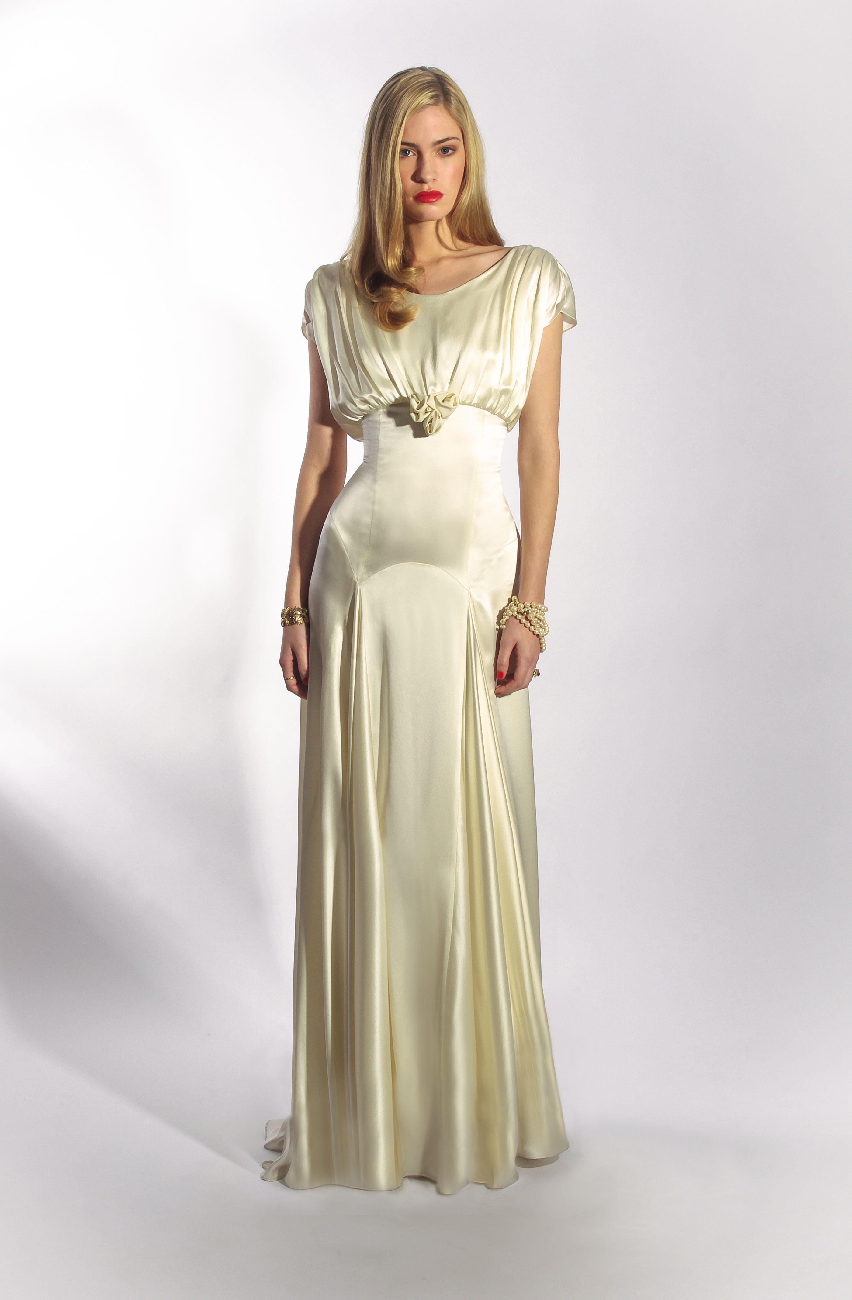 The Belle dress by Belle & Bunty UK - 1930s liquid satin old ...