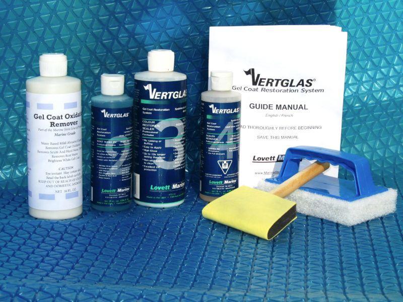 Vertglas Fiberglass Gel Coat Restoration System Restores