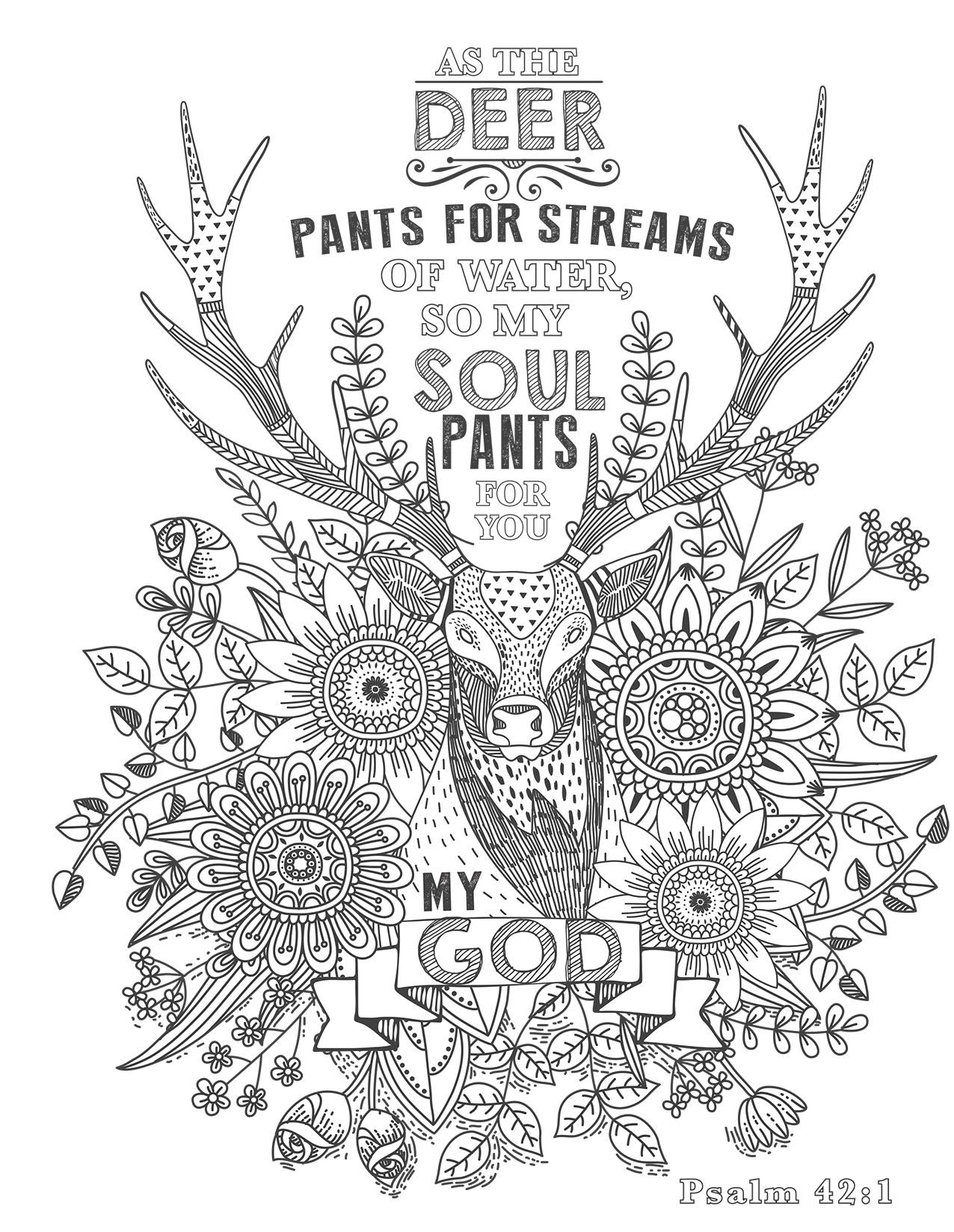 Coloring page from The Psalms in Color | color sheets | Pinterest ...