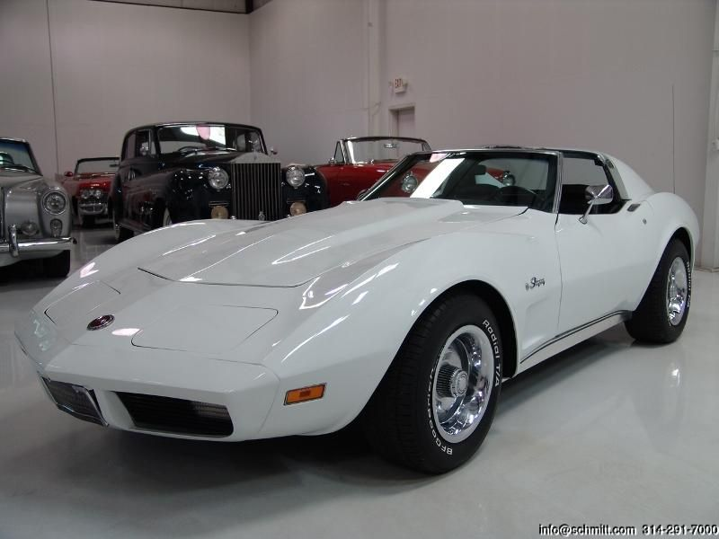 Jack Schmitt Chevy >> 1974 Classic White Corvette Front | Cars | Coches, Carros clasicos y Autos