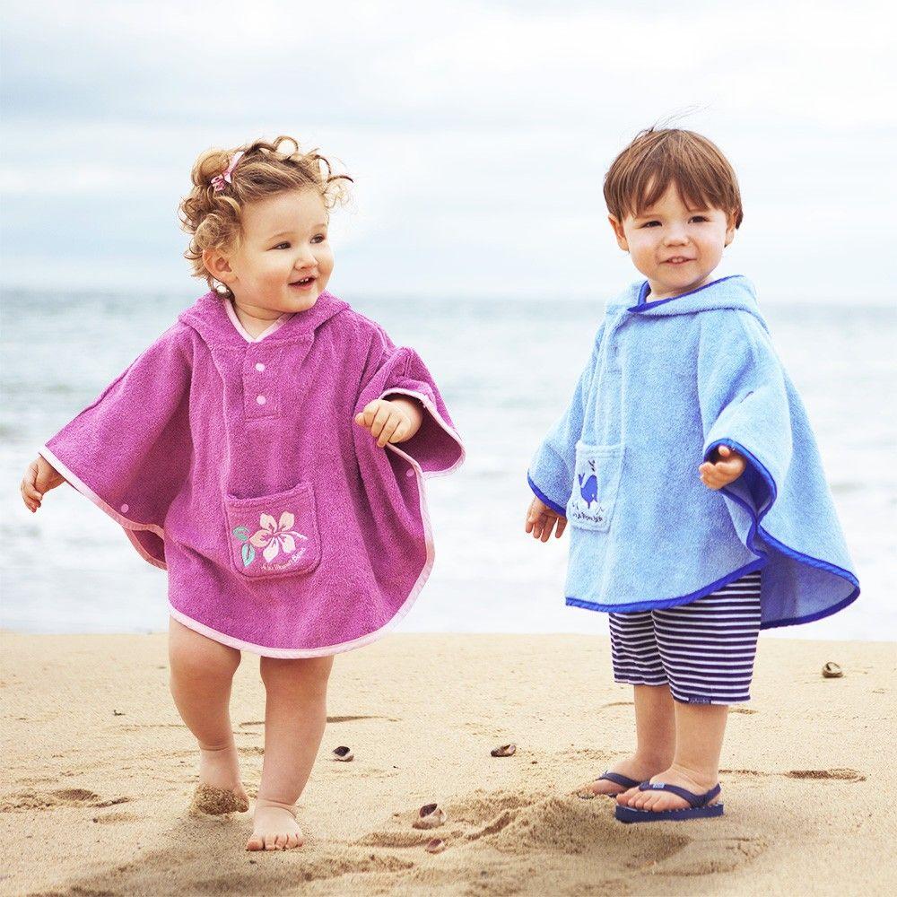 toalla poncho para bebés y niños para playa y piscina | bebe niño