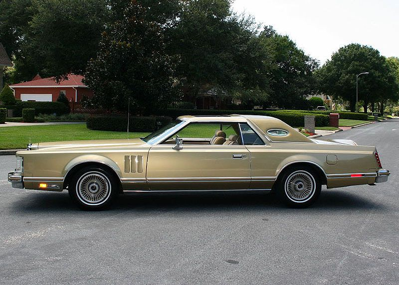 1978 lincoln continental mark v diamond edition in jubilee gold paint color the only other