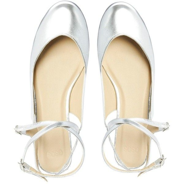 ASOS LEVITATE Ballet Flats ($53) found on Polyvore