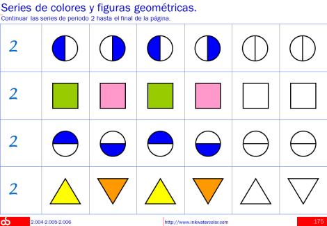 Series Numericas De Colores Y Figuras Geometricas Con Imagenes