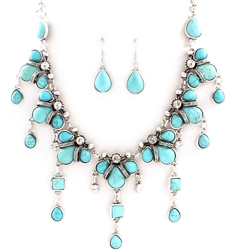 Sabina Necklace in Turquoise