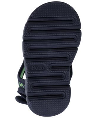 dd41fbc0a Polo Ralph Lauren Toddler Boys  Tidal Water Shoes from Finish Line - NAVY  GREEN SHARK 10