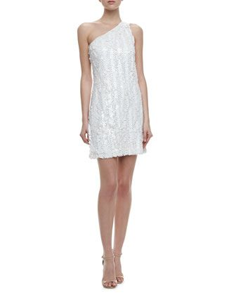 Laundry by shelli segal white sequin dress