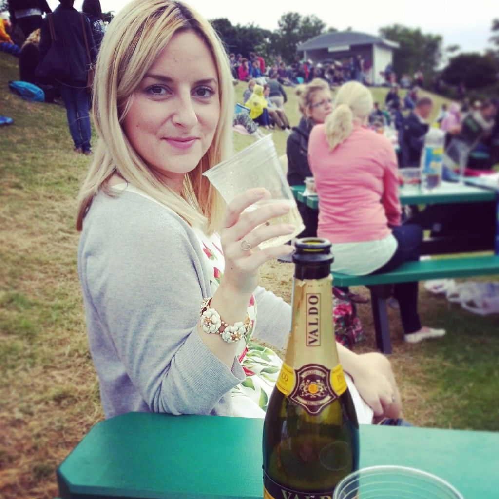 Enjoying Prosecco at #Wimbledon
