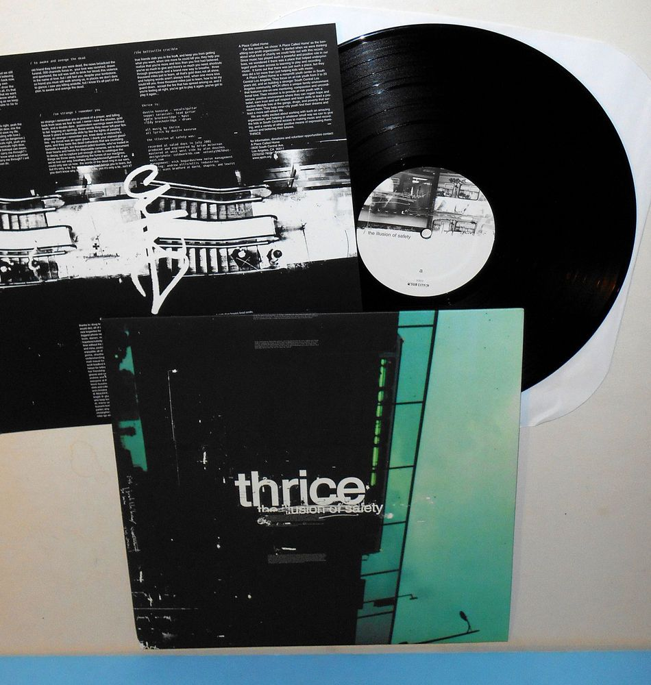 THRICE the illusion of safety Lp Record black Vinyl with