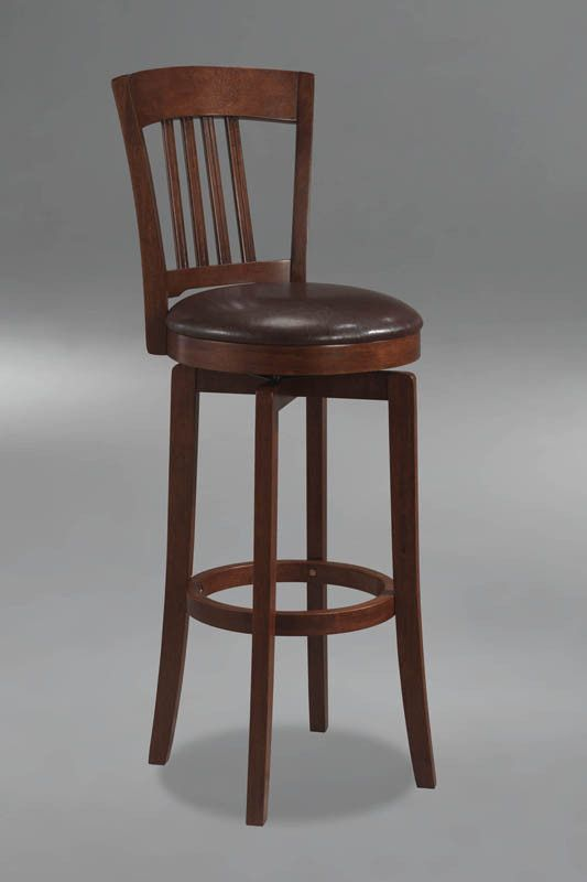 Hillsdale Plainview Canton 24.5 Inch Swivel Counter Stool in Brown 4166-829