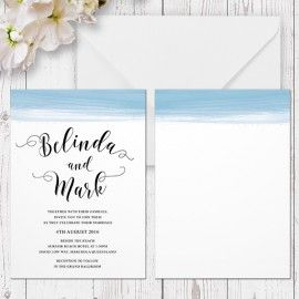 Printed cardstock for wedding invitations