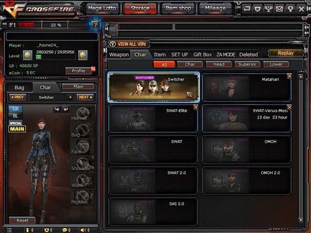 SELL Crossfire Account 10 Rare Guns Lotto VIP Switcher P900 - Ben