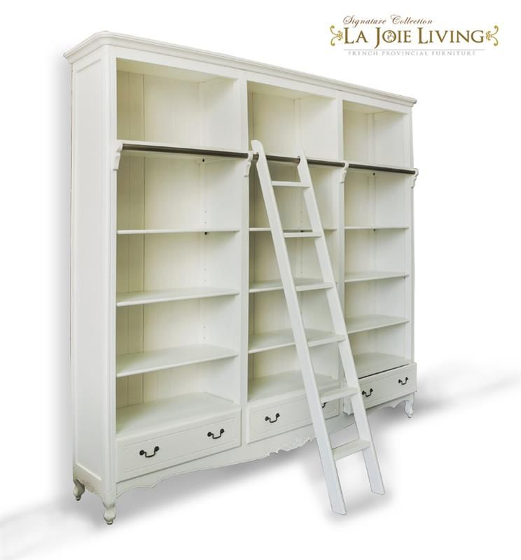 French Provincial Classic Library Bookcase Display