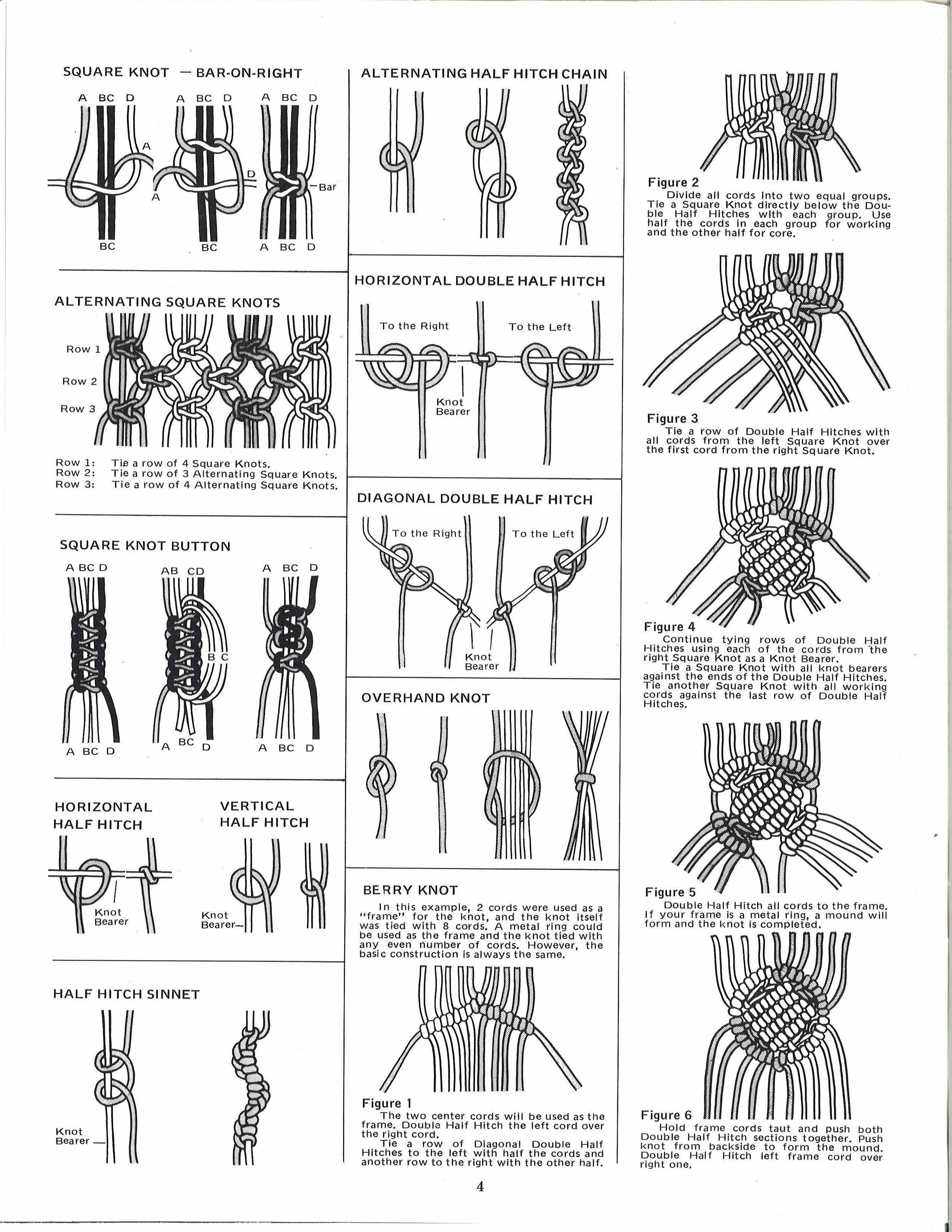 Macrame West Book 1970s Macrame Plant Hanger Pattern Pdf Booklet