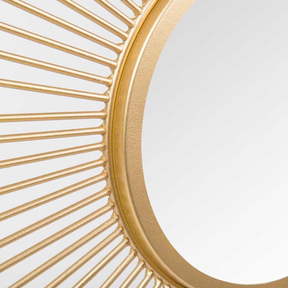 Salon-spiegel-designs ronde spiegel van goudkleurig metaal d  salons