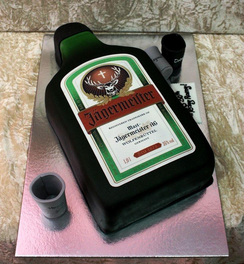 Jgermeister Cake Bakery On The Side Pinterest Cake Birthday