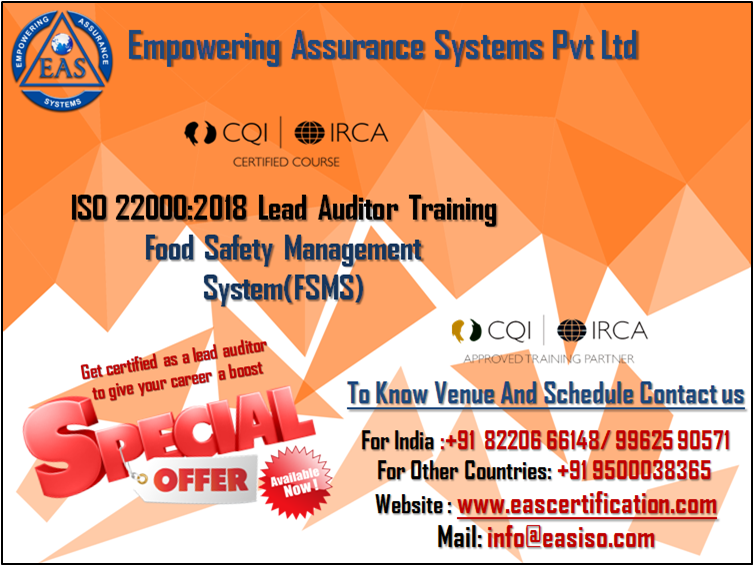 ISO 220002018 Lead Auditor Training (With images