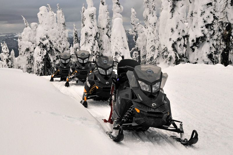 Photo of Snowmobiling in the Swan Mountains