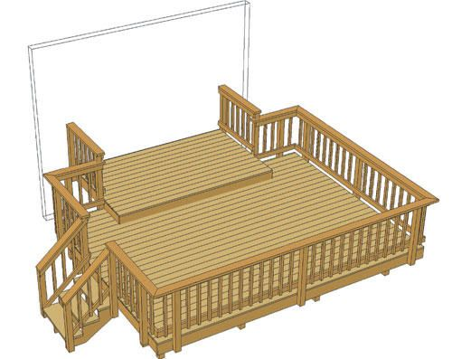 Best 16 X 12 Deck W 10 X 6 Landing And Iron Spindles 400 x 300