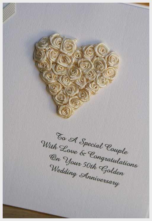 Wedding ideas 50th wedding anniversary card ideas for for Anniversary craft ideas for parents