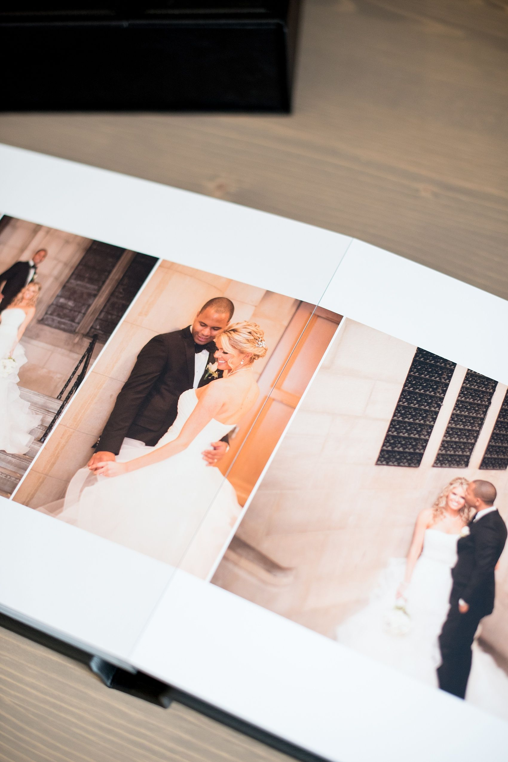 Mikkel Paige Photography Photos Of A Navy Blue Leather Madera Wedding Album With Thick Pages Pearl River Hilton