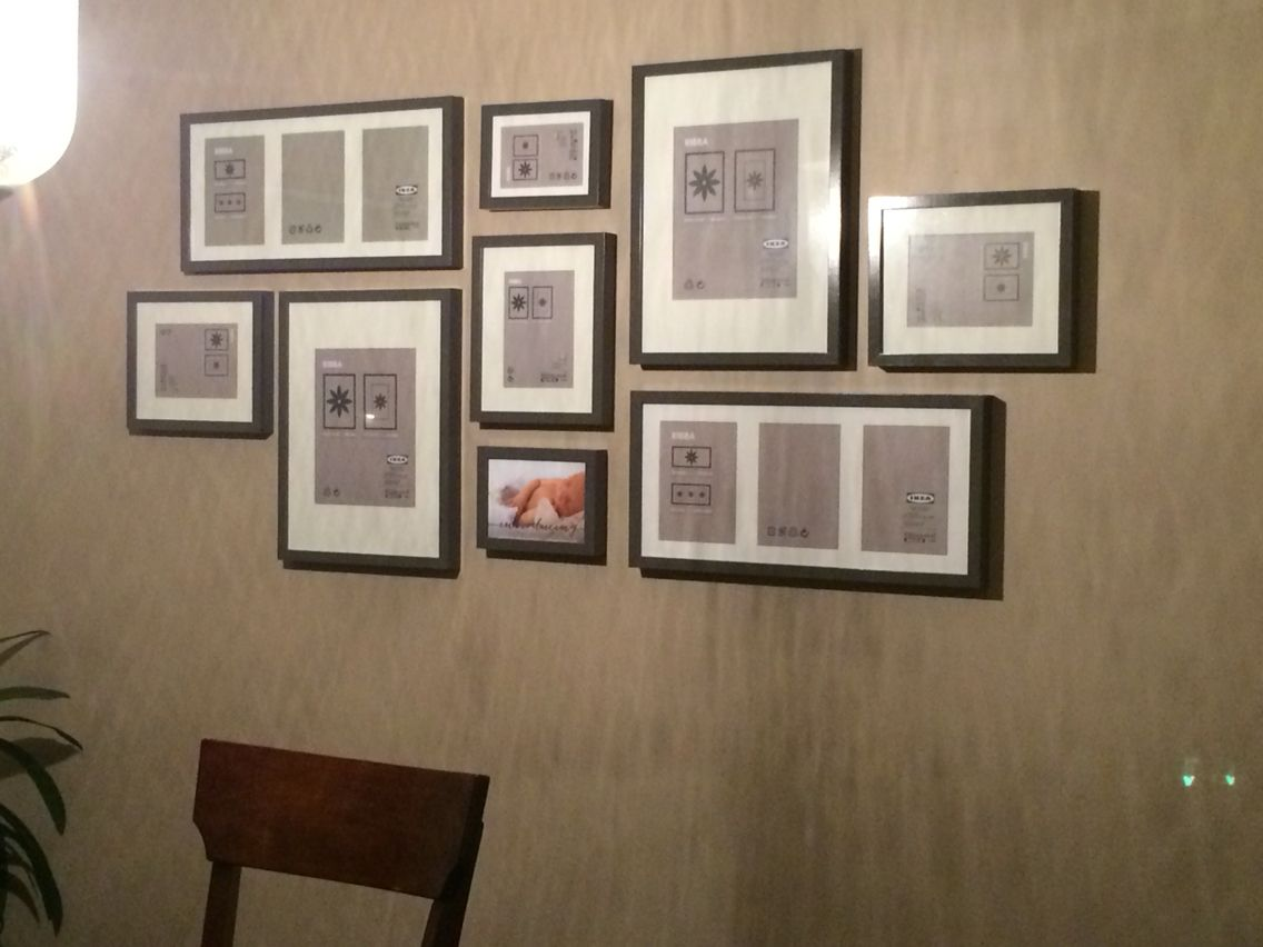 gallery wall layout. ikea ribba frames in grey … | home in 2018