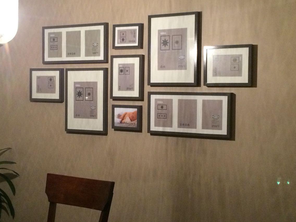 Gallery Wall Layout Ikea Ribba Frames In Grey