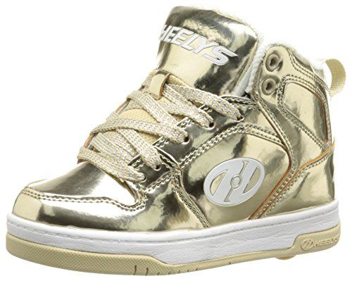 Heelys Split Chrome Skate Shoe (Toddler/Little Kid/Big Kid), Gold
