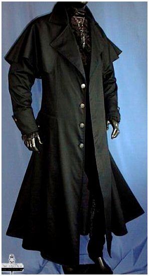 manteau long gothique noir homme doubl steaming steampunk pinterest manteaux longs. Black Bedroom Furniture Sets. Home Design Ideas