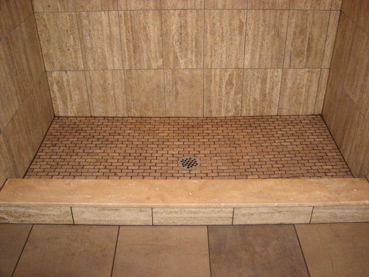 Photos Of Pepe Tile Installation   Westville, NJ. Travertine Tile Stall  Shower With Travertine Shower Floor Voorhees,nj