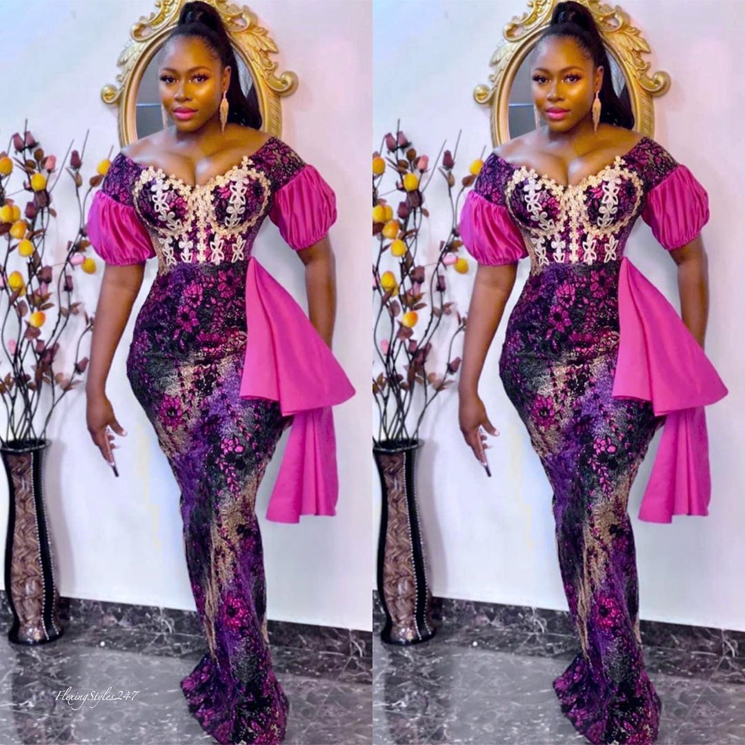 Asoebi Flexingstyles247 On Instagram Too Much Sauce With These Aso Ebi Styles All From Lamour2 African Clothing Styles Best African Dresses African Attire
