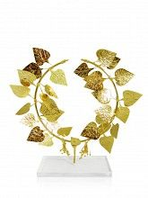 Ivy Wreath, Gold-plated