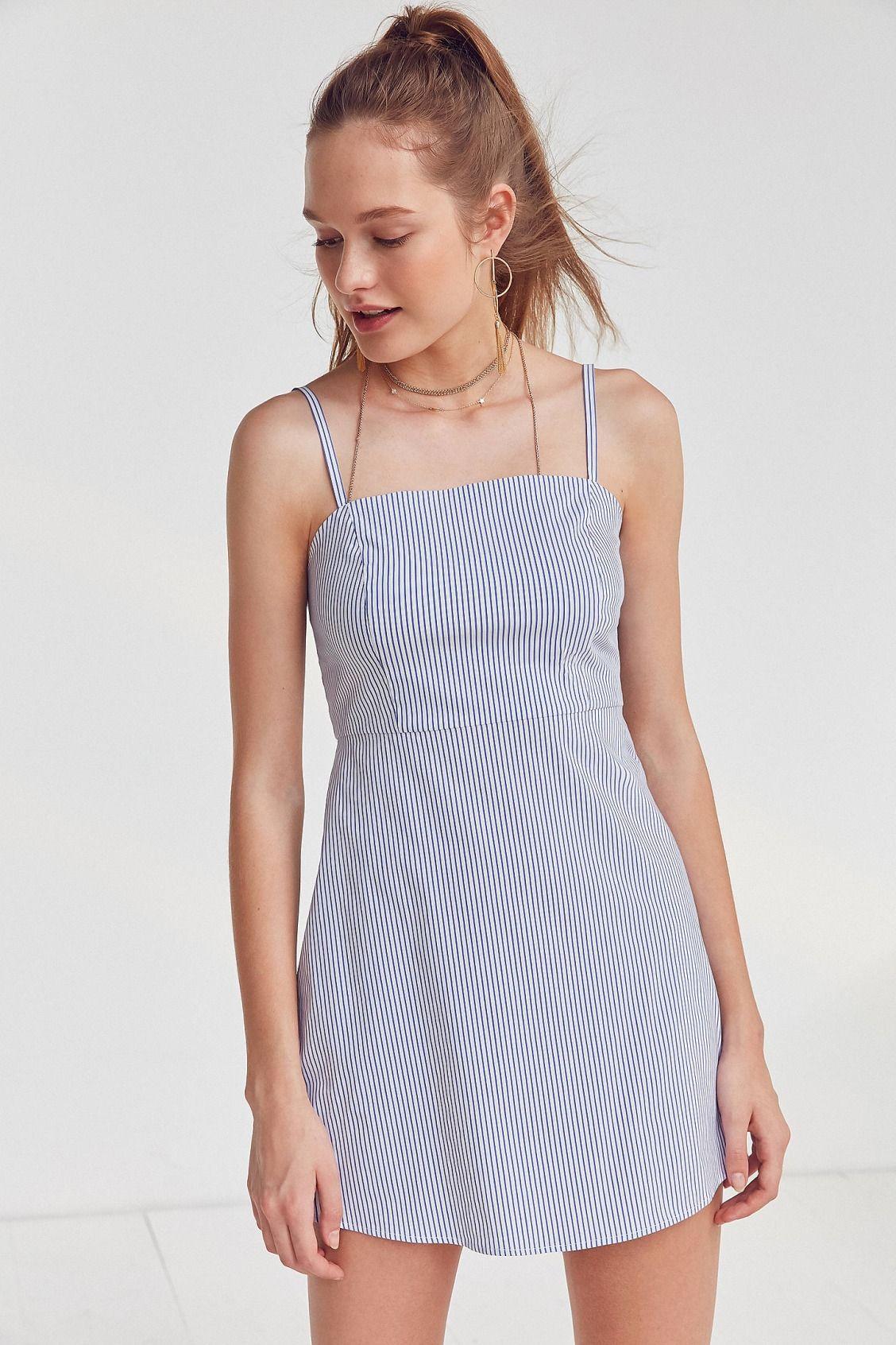 Slide View: 1: Kimchi Blue Rae Straight Neck Poplin Dress