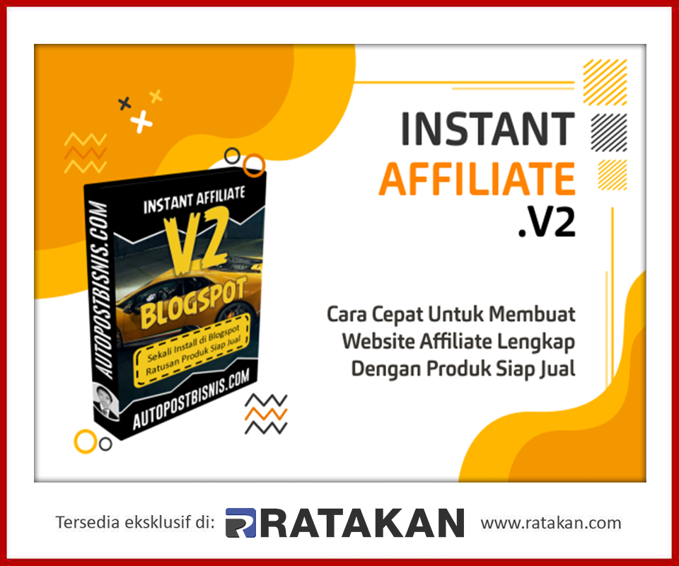 Daftar Jadi Reseller Online Shop Instant Affiliate V2 Blogspot Website Marketing Produk