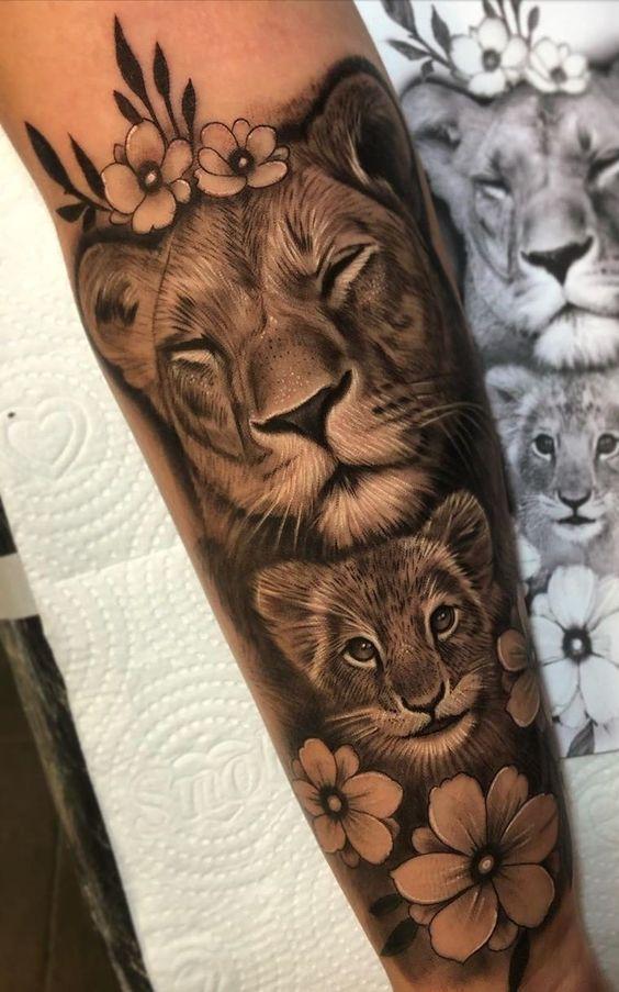 70 weibliche und männliche Löwentattoos