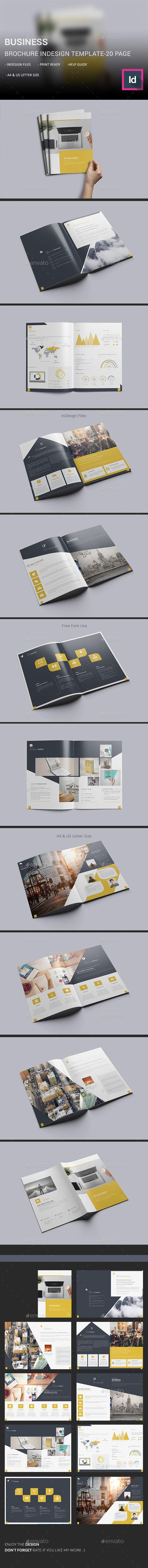 Business Brochure InDesign Template | Pinterest