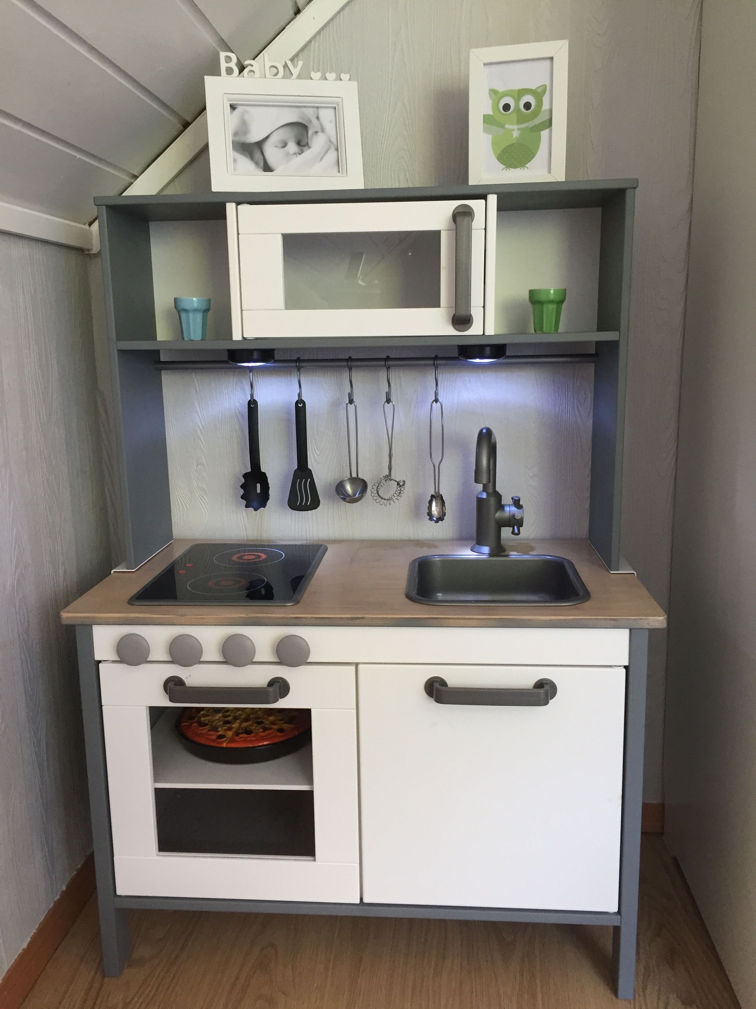 Ikea Duktig Hack Kids Kitchen Spraypainted Grey Ikea - Bar Für Küche Ikea