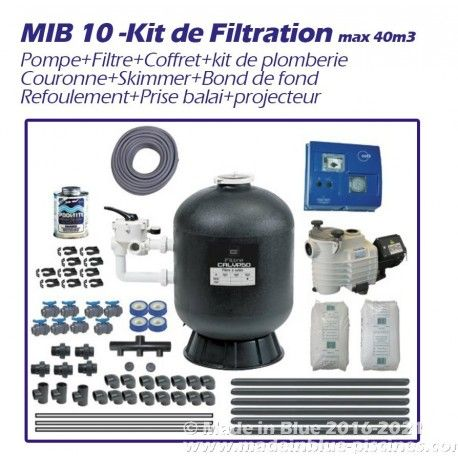 Kit Complet De Filtration A Poser Vous Meme Materiel De Piscine Kit Coffret