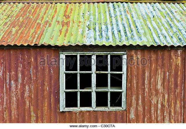 Corrugated Metal Shed Stock Photos Corrugated Metal Shed Stock Images Metal Shed Corrugated Metal Shed With Porch