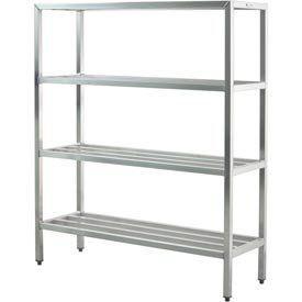 Aluminum Heavy Duty 4 Shelf Rack 24 Wx72 Hx72 L By New Age