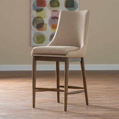 Belham Living Carter Mid Century Modern Upholstered Counter Height Stool |  Hayneedle
