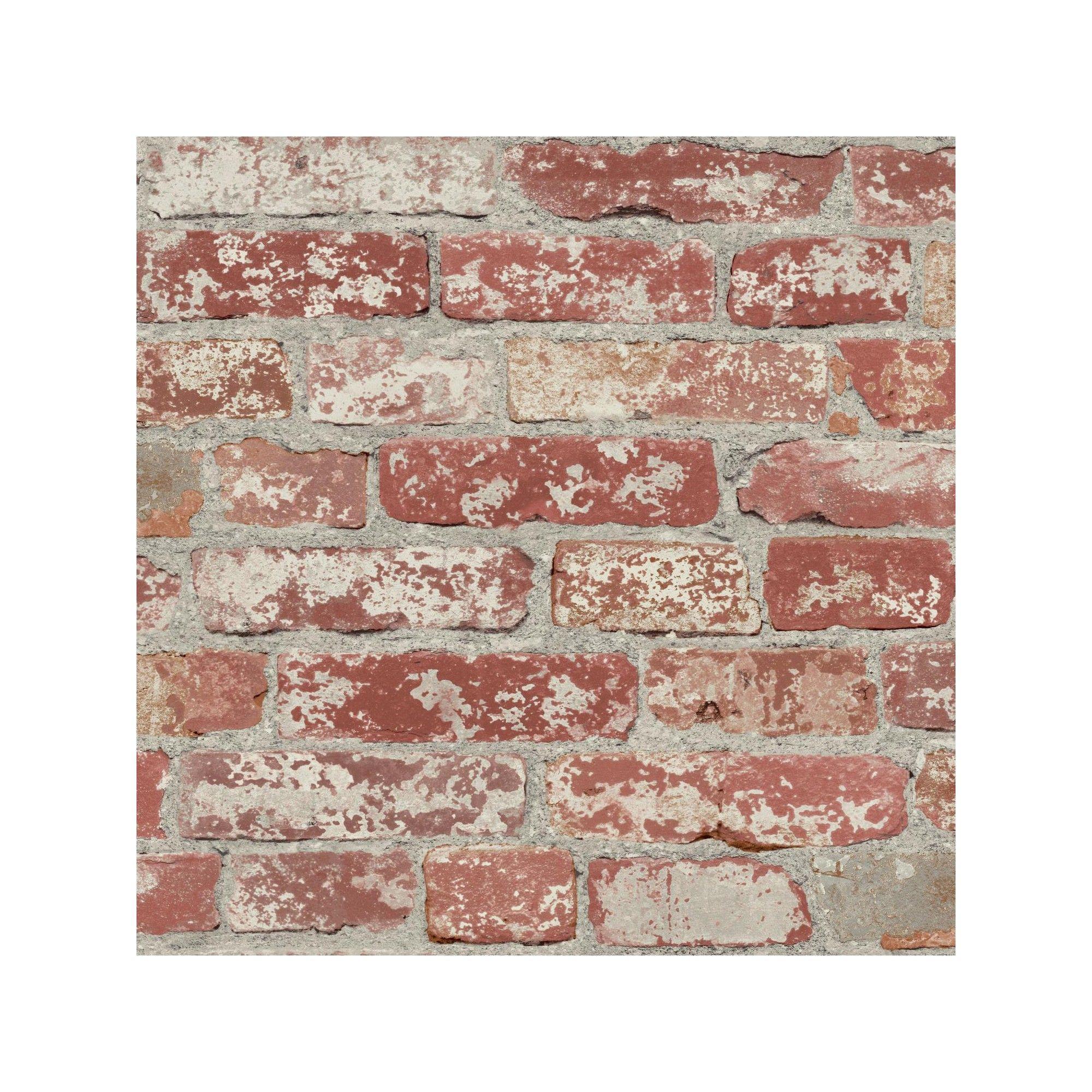 Roommates Stuccoed Brick Peel And Stick Wallpaper Dark Red Peel And Stick Wallpaper Red Brick Wallpaper Brick Wallpaper