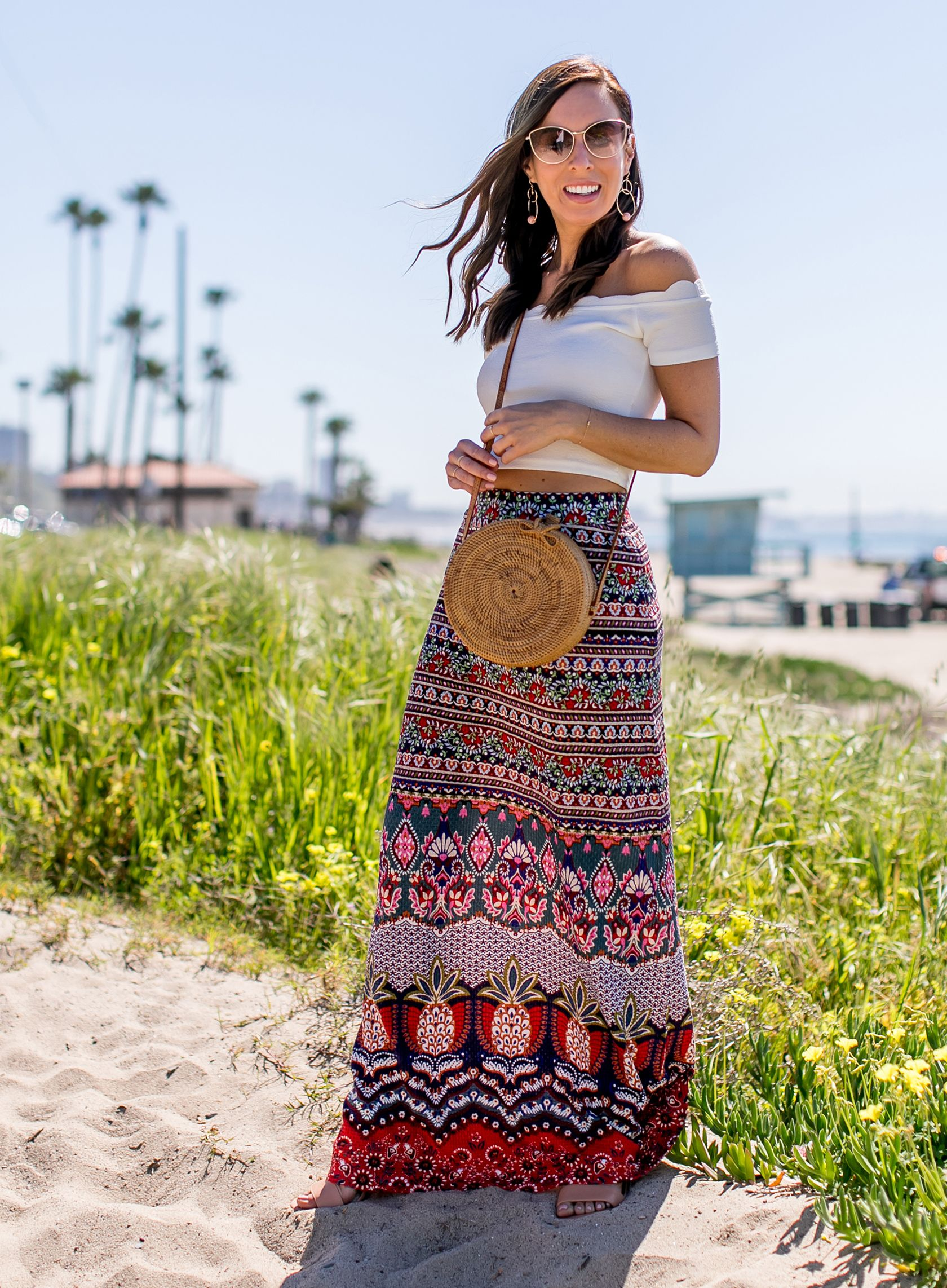 3f710ad531d7 Boho Chic Style in a Maxi Skirt | Womens fashion | Chic outfits ...