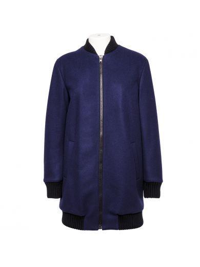 MSGM Msgm Blue Wool Coat. #msgm #cloth #coats-jackets
