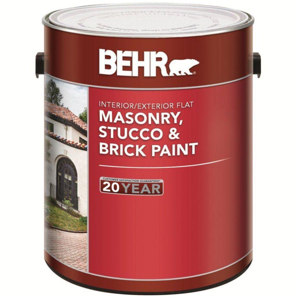 Interior Exterior Masonry Stucco Brick Paint Flat 3 73l Brick Interior Stucco Masonry