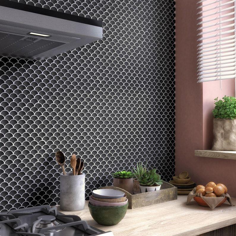 Mosaique Sol Et Mur Ecailles Noir Mat Leroy Merlin Noir Mat Sol Et Mur Merlin