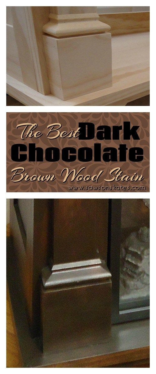 How To Make Dark Brown Paint : brown, paint, Brown, Stain, Pine), Skates®, Staining, Wood,, Pine,, Black