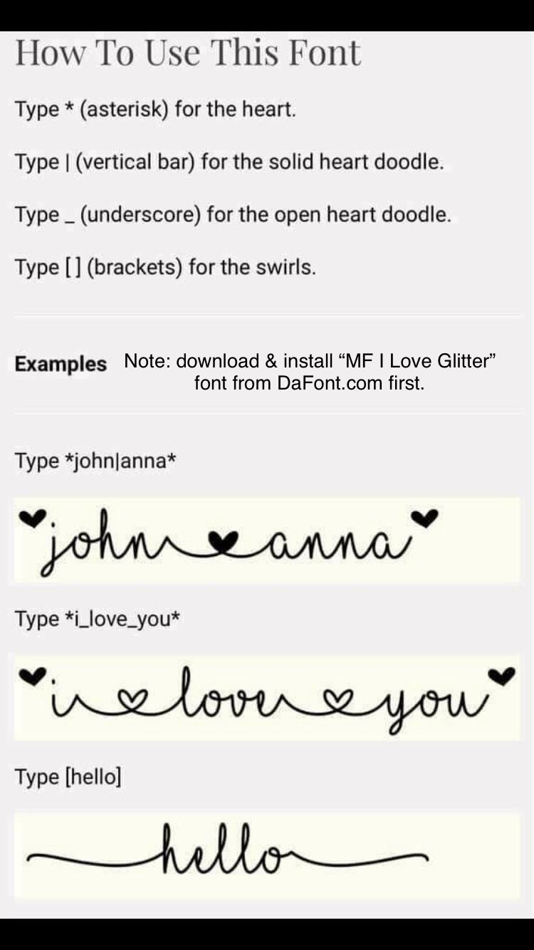 How To Do Font With Hearts In It Cricut Fonts I Love Glitter