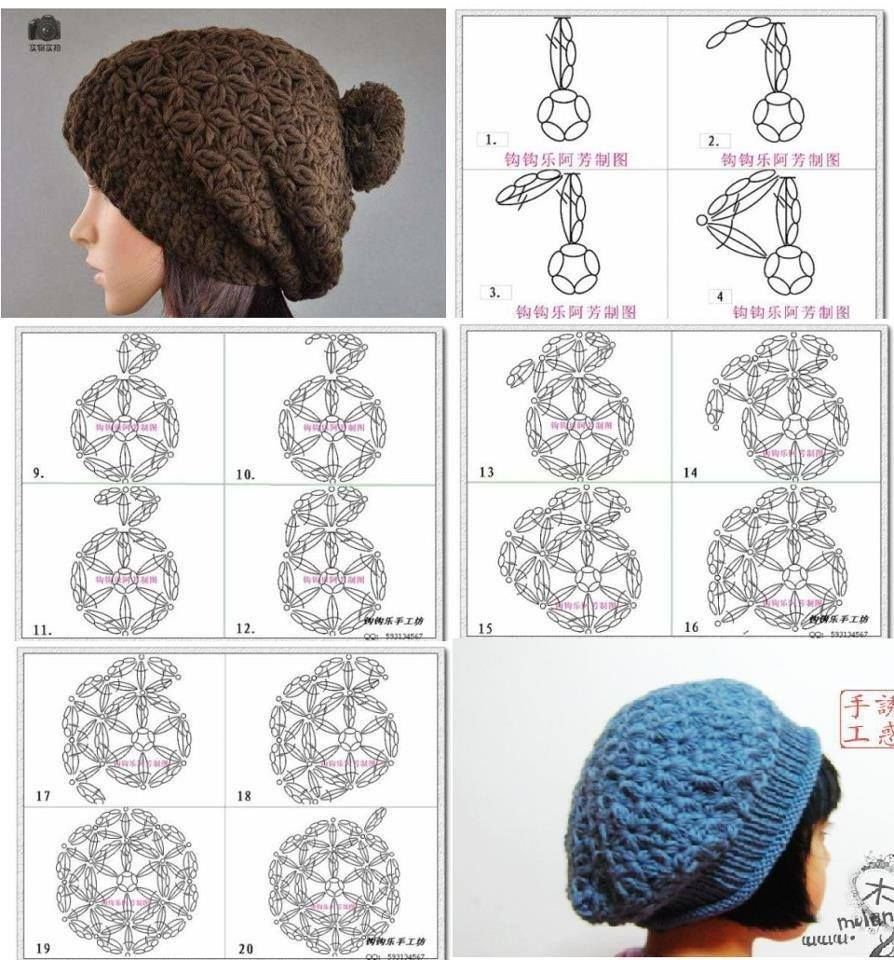 Pin by Silvia Benítez on gorros en crochet unisex | Pinterest | Crochet